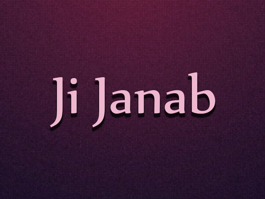 Ji Janab-JUS Punjabi TV